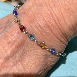 Jewelry - Sterling Evil eye bracelet